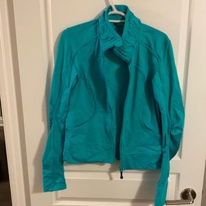 lululemon - teal - running jacket - size unclear